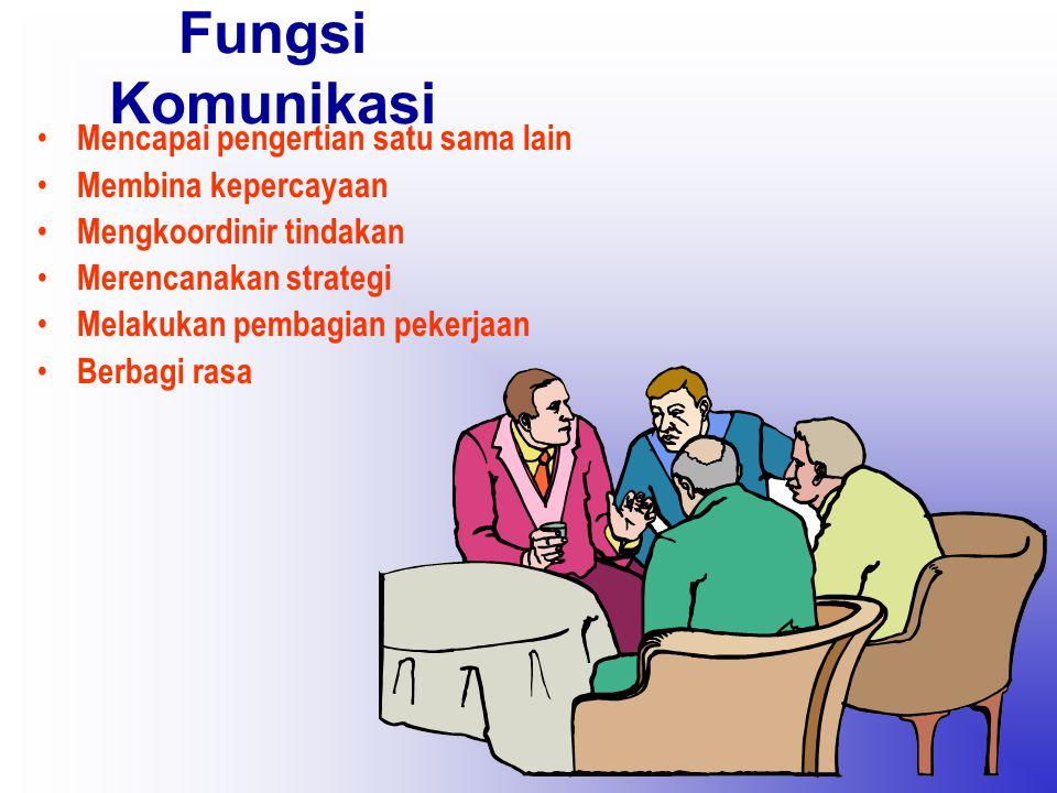 Fungsi Komunikasi Mencapai pengertian satu sama lain