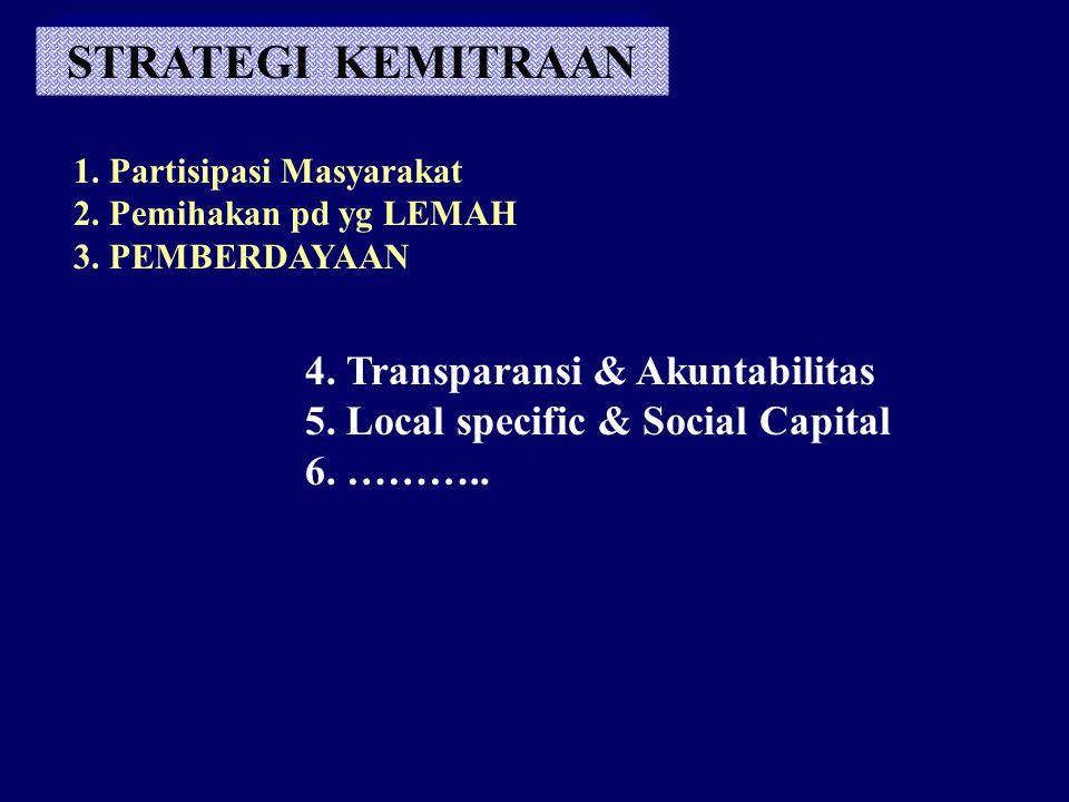 STRATEGI KEMITRAAN 4. Transparansi & Akuntabilitas