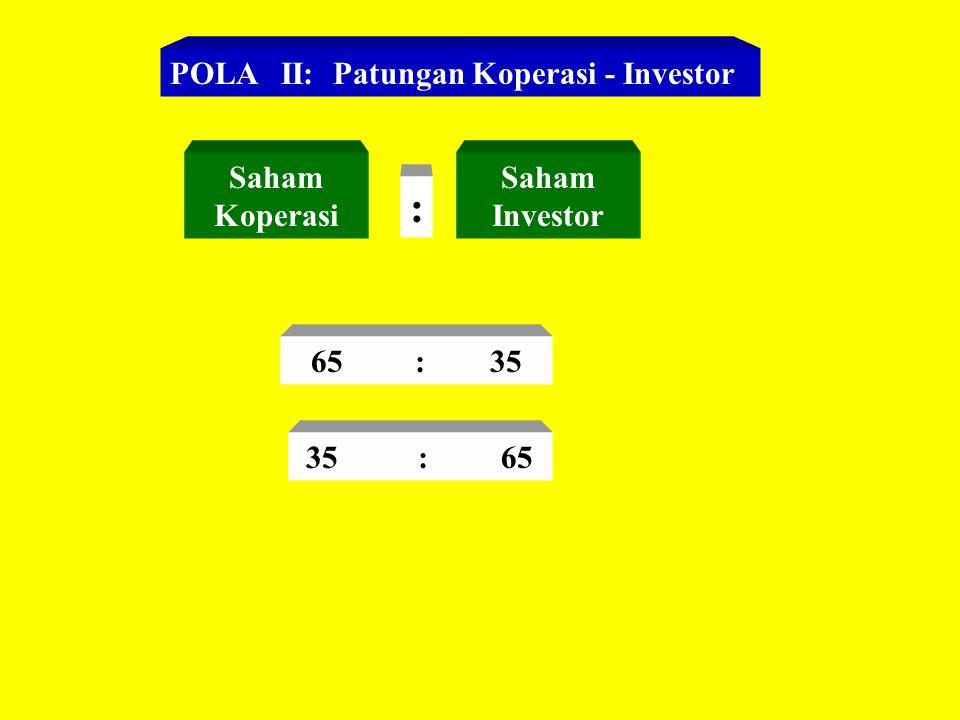 : POLA II: Patungan Koperasi - Investor Saham Koperasi Saham Investor