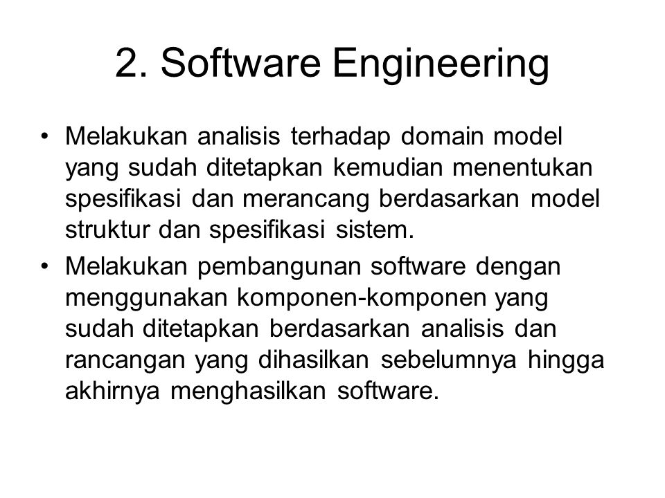 2. Software Engineering