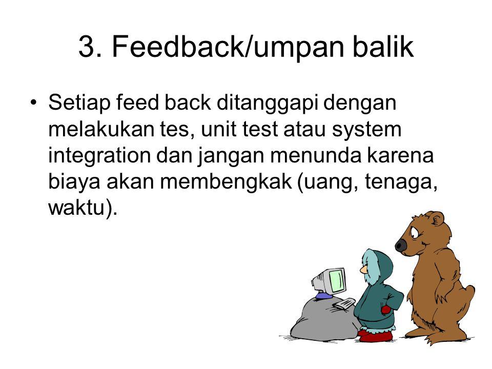 3. Feedback/umpan balik