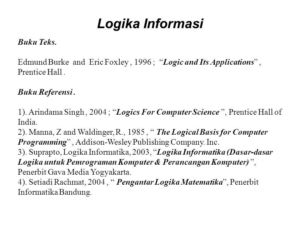 Logika Informasi Buku Teks.