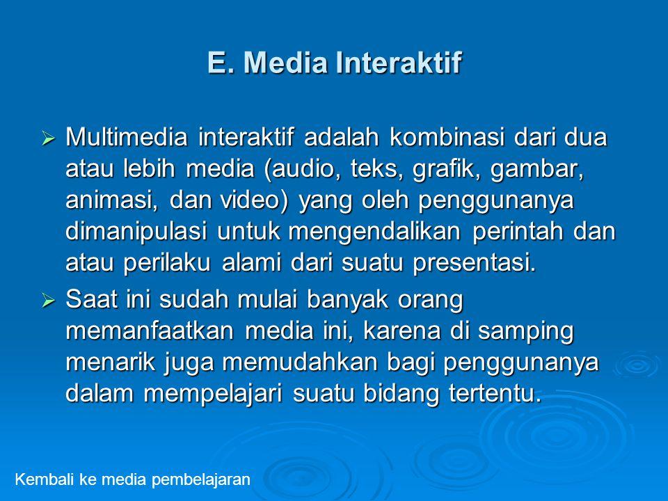 E. Media Interaktif