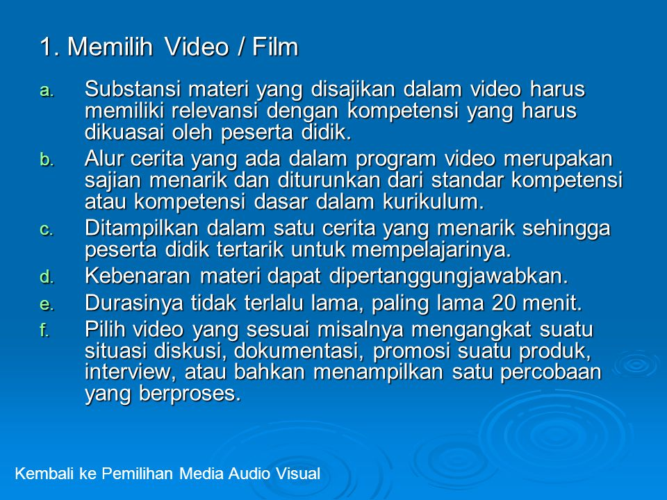 1. Memilih Video / Film