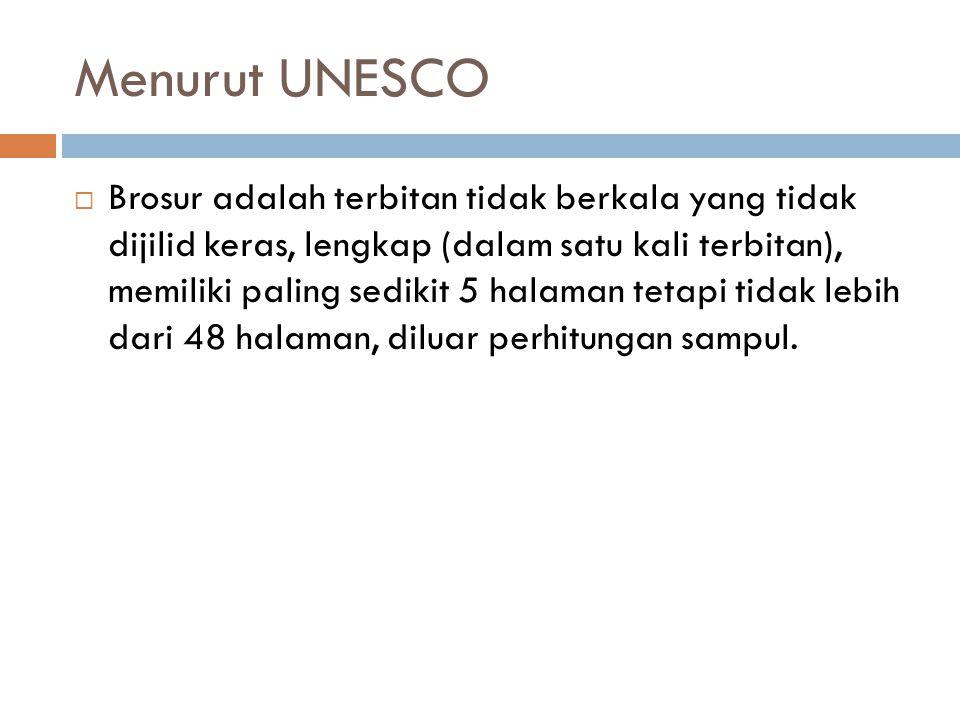 Menurut UNESCO