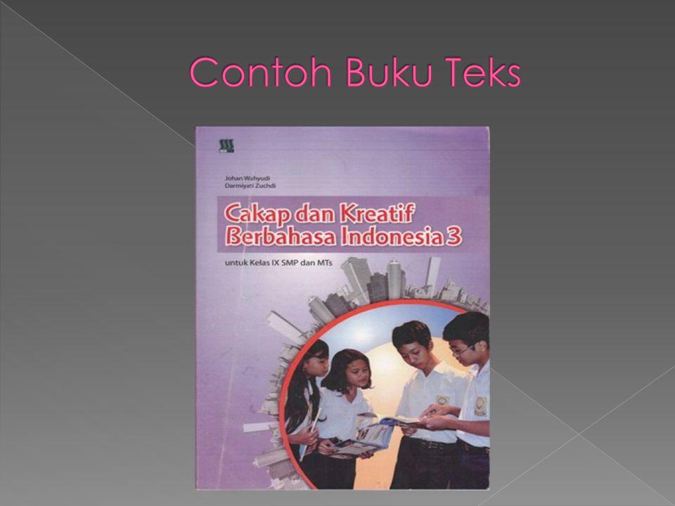 Contoh Buku Teks