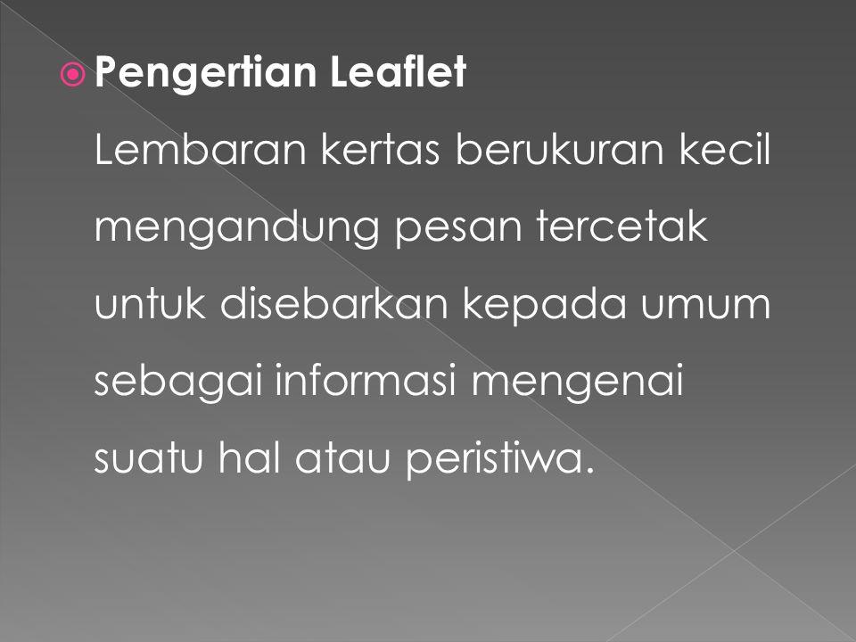 Pengertian Leaflet