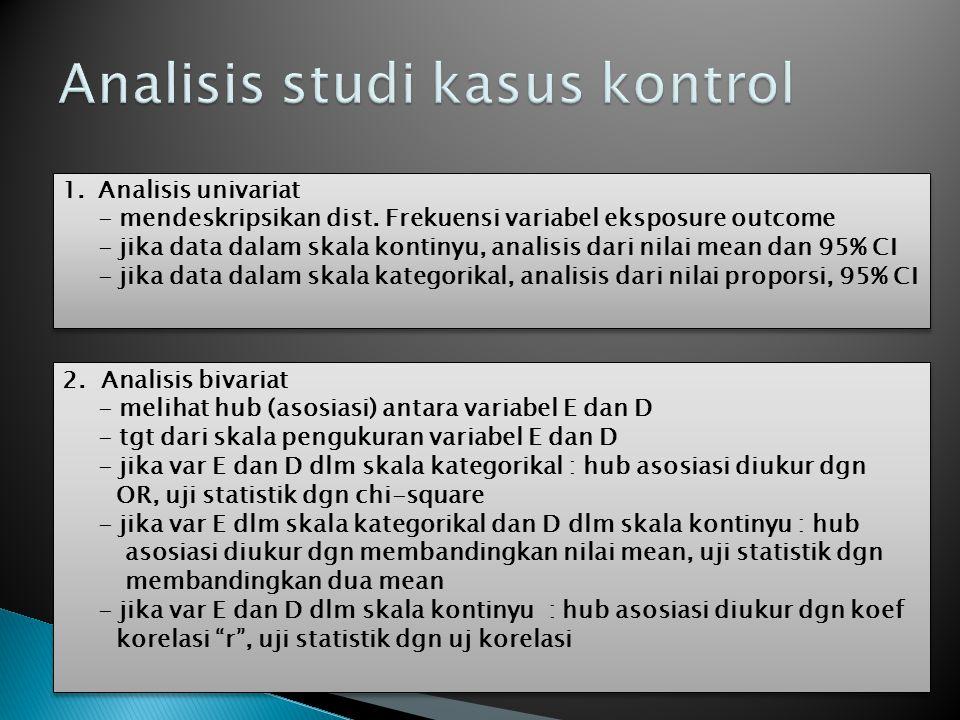 Analisis studi kasus kontrol