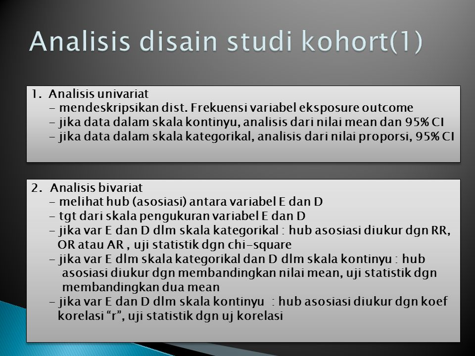 Analisis disain studi kohort(1)
