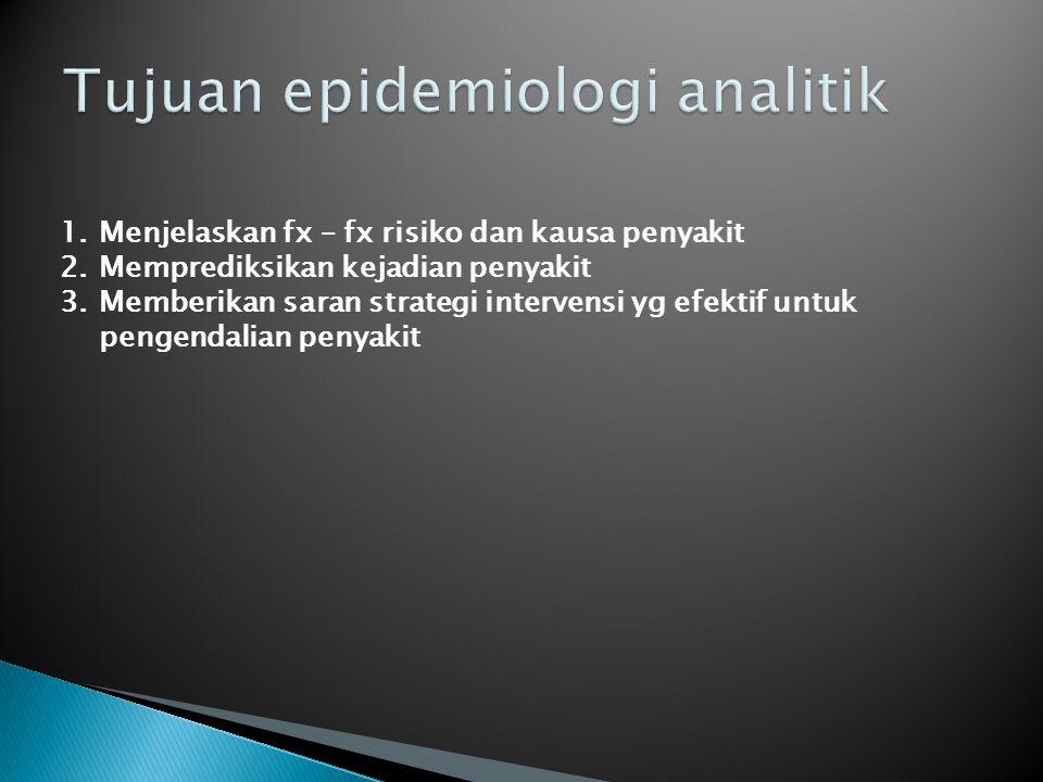 Tujuan epidemiologi analitik