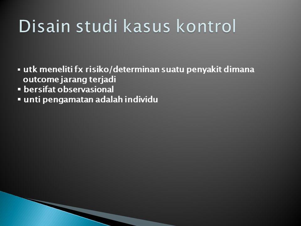 Disain studi kasus kontrol