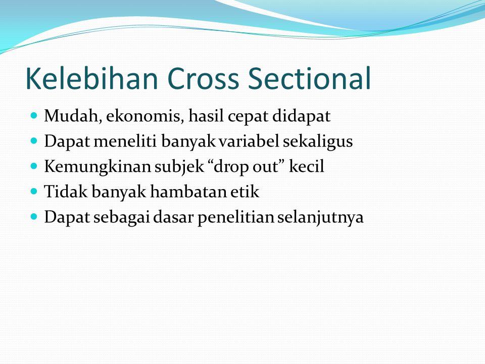 Kelebihan Cross Sectional