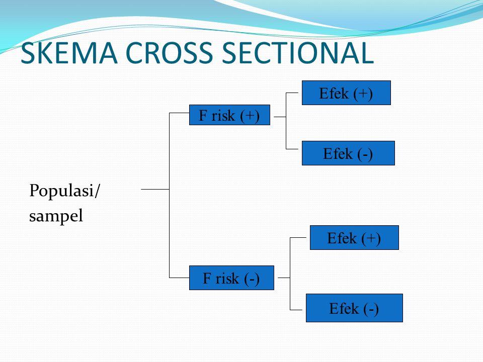SKEMA CROSS SECTIONAL Populasi/ sampel Efek (+) F risk (+) Efek (-)
