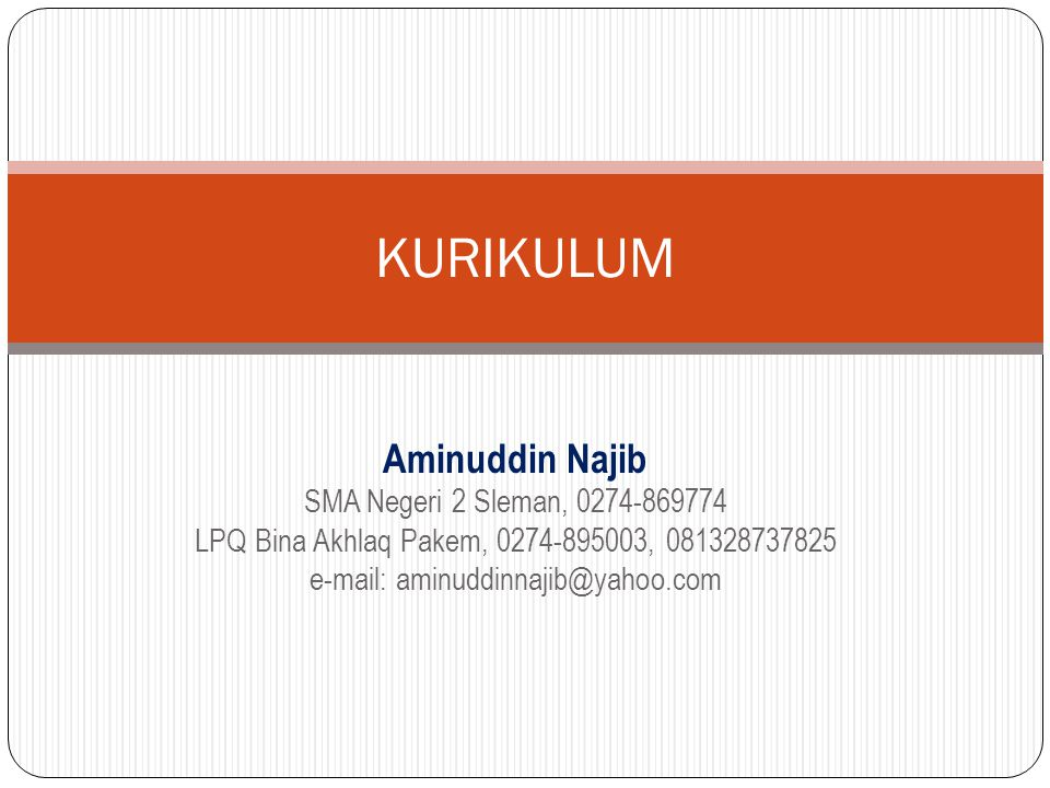 e-mail: aminuddinnajib@yahoo.com