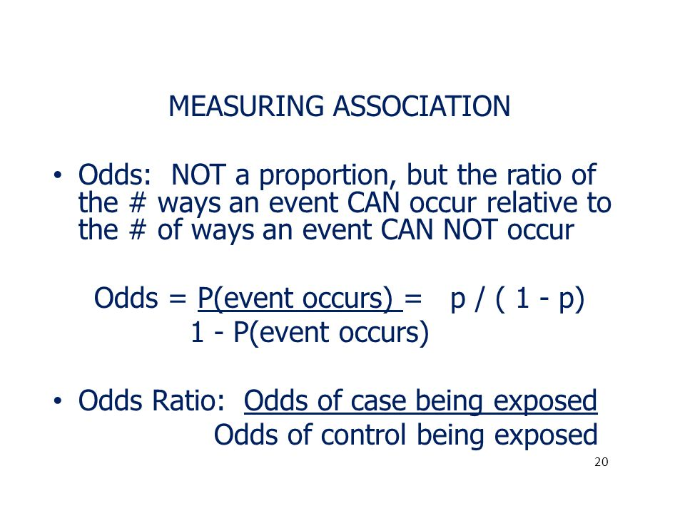 MEASURING ASSOCIATION