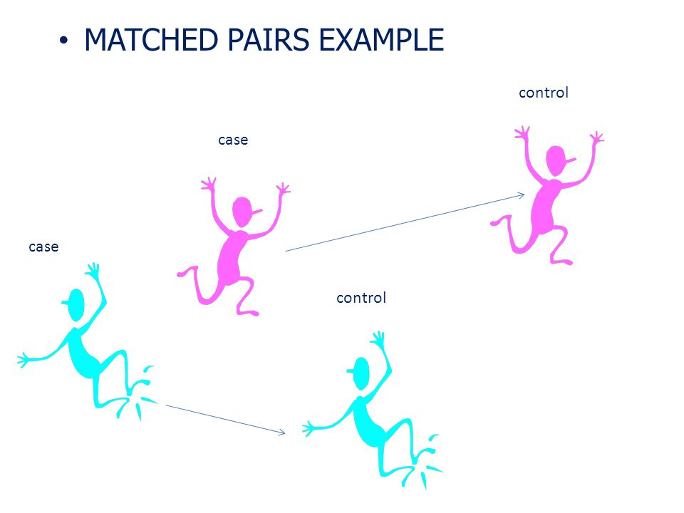 MATCHED PAIRS EXAMPLE control case case control