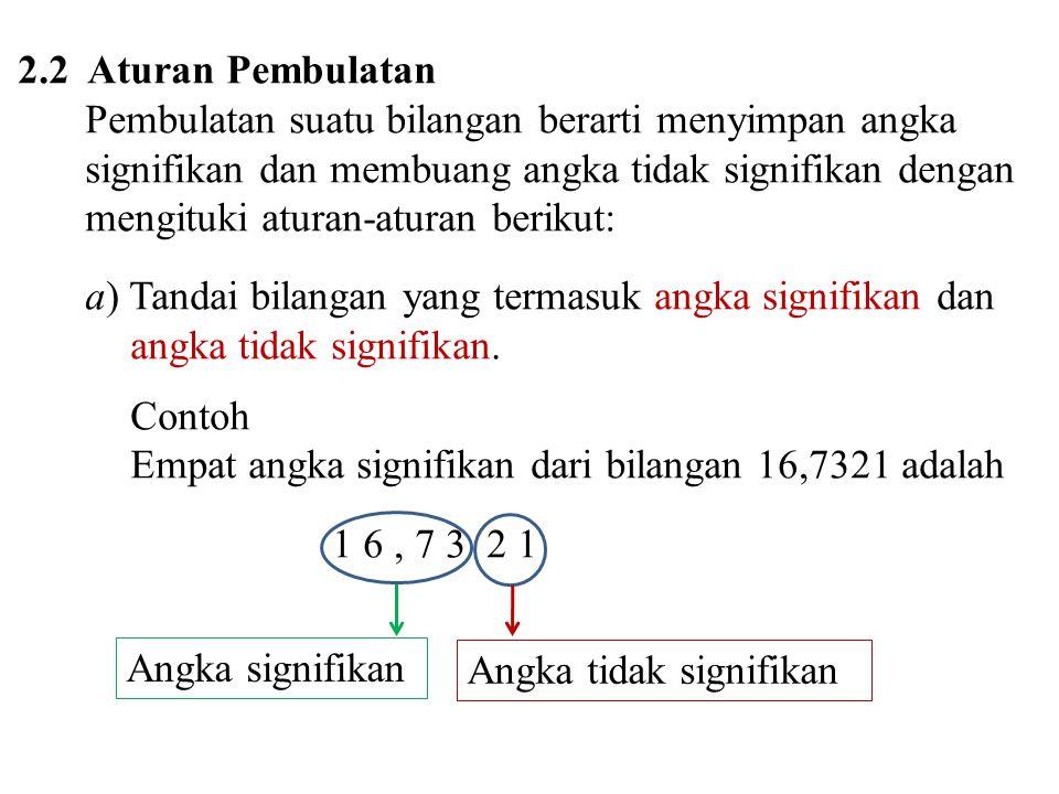 2.2 Aturan Pembulatan