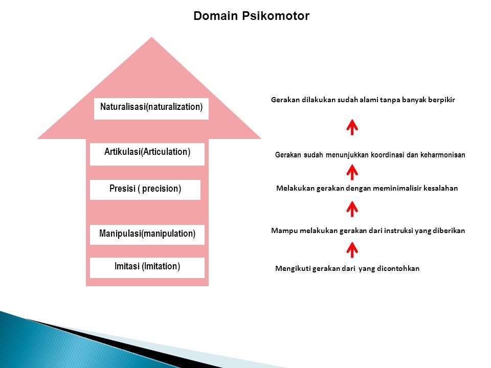Domain Psikomotor Naturalisasi(naturalization)