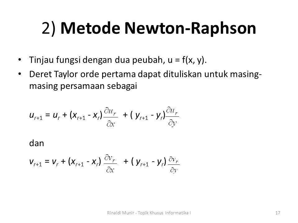 2) Metode Newton-Raphson