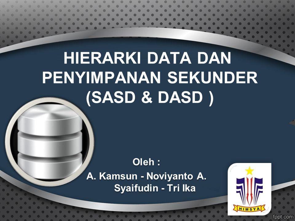 HIERARKI DATA DAN PENYIMPANAN SEKUNDER (SASD & DASD )