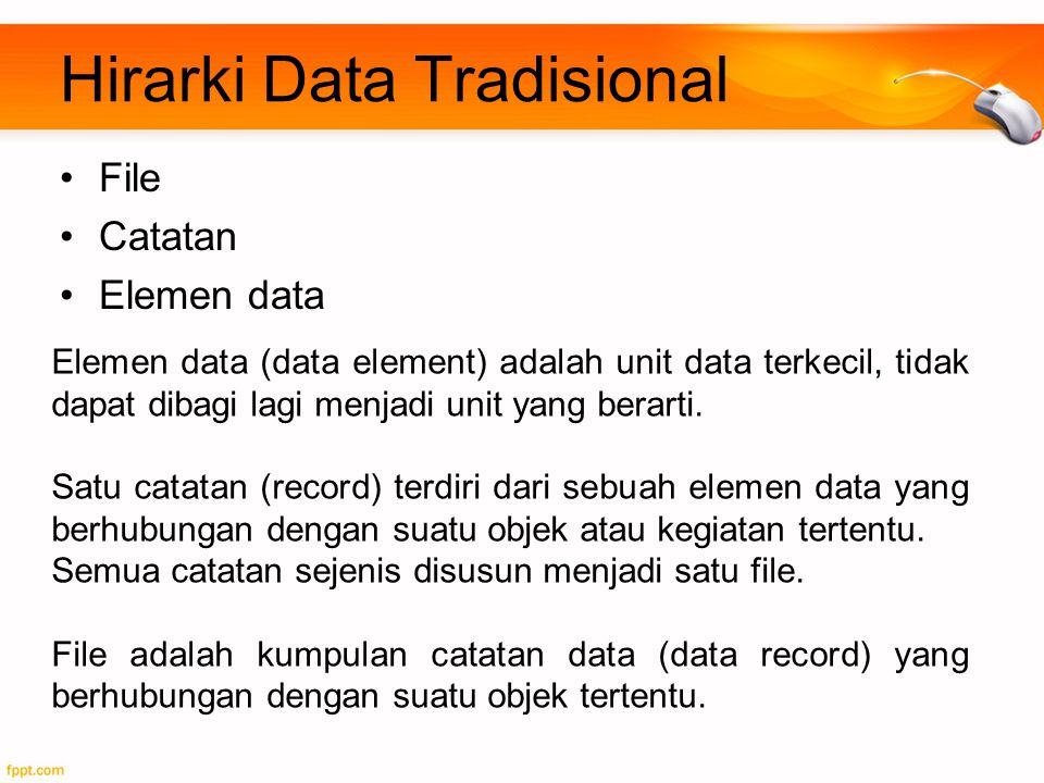 Hirarki Data Tradisional