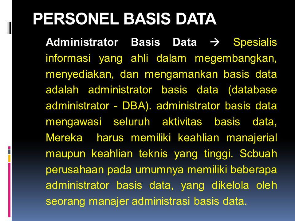 PERSONEL BASIS DATA