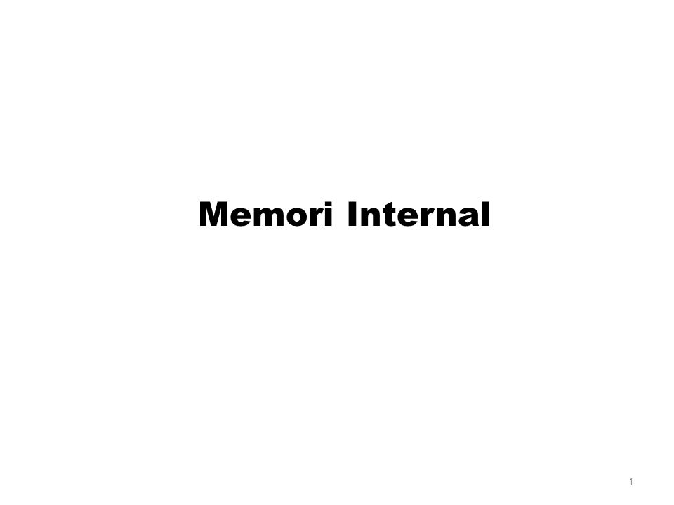 Memori Internal
