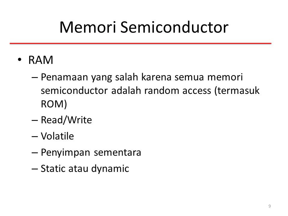 Memori Semiconductor RAM