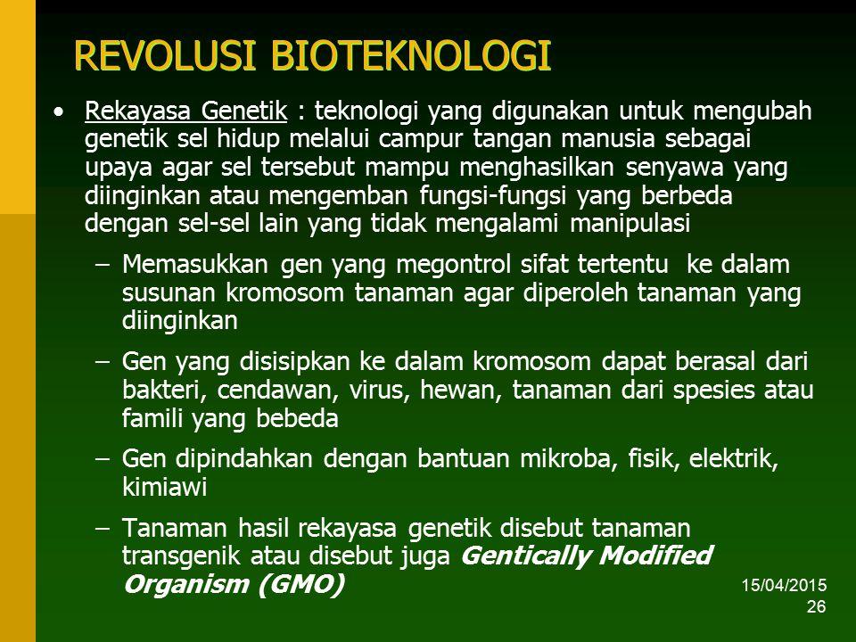 REVOLUSI BIOTEKNOLOGI