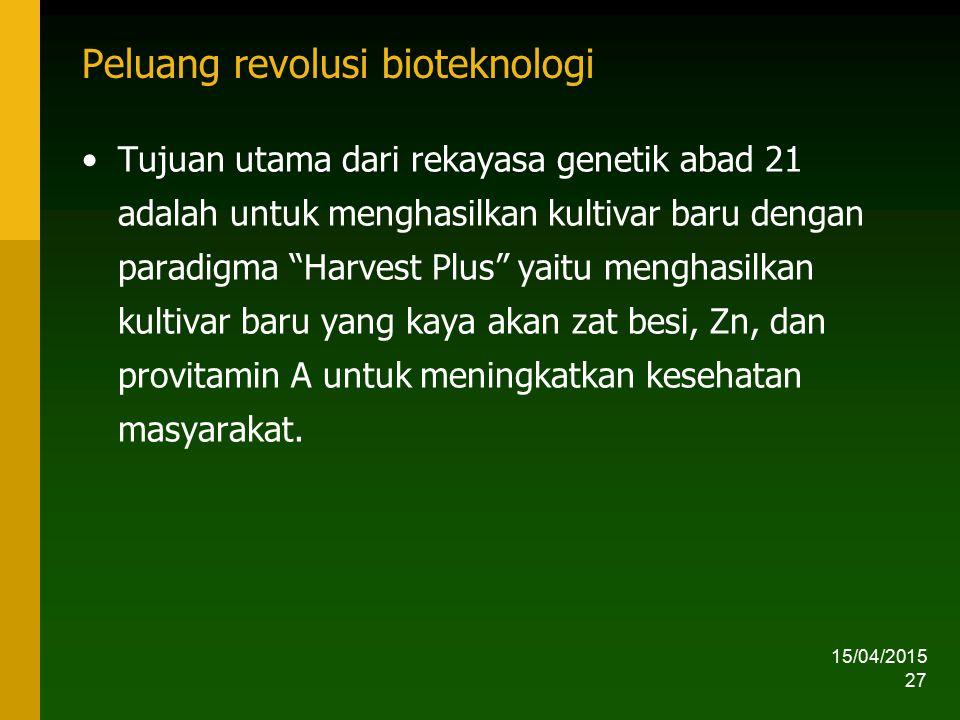 Peluang revolusi bioteknologi