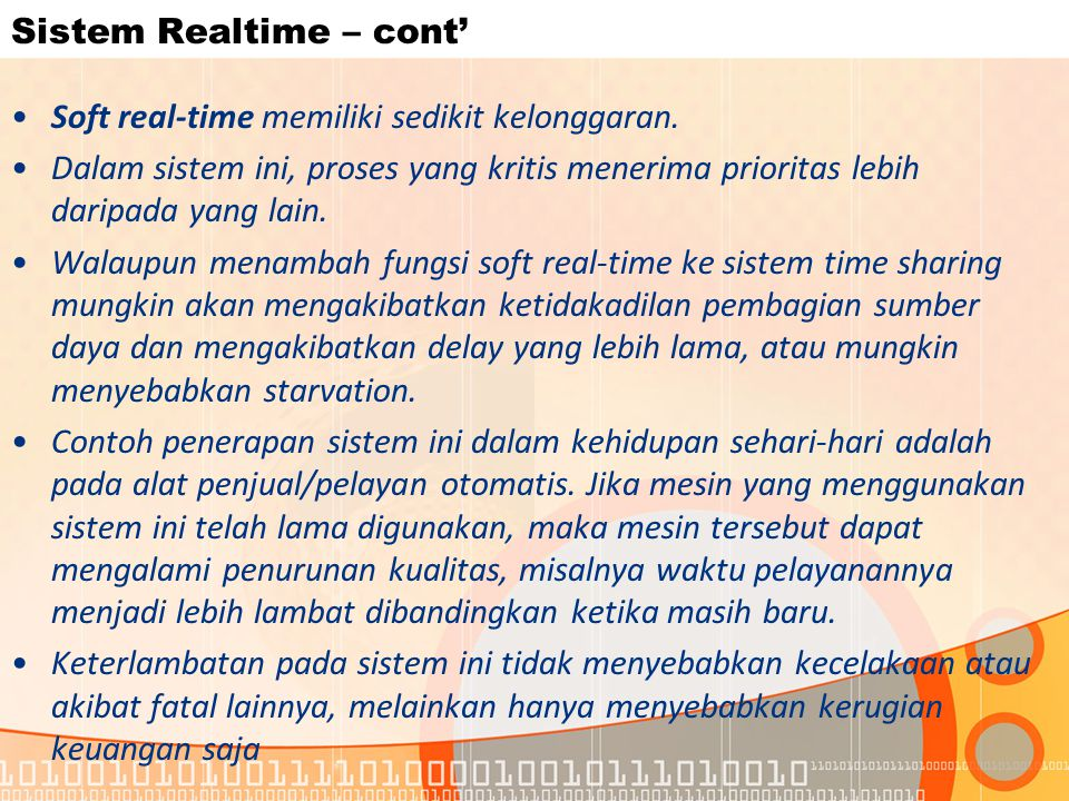Sistem Realtime – cont'