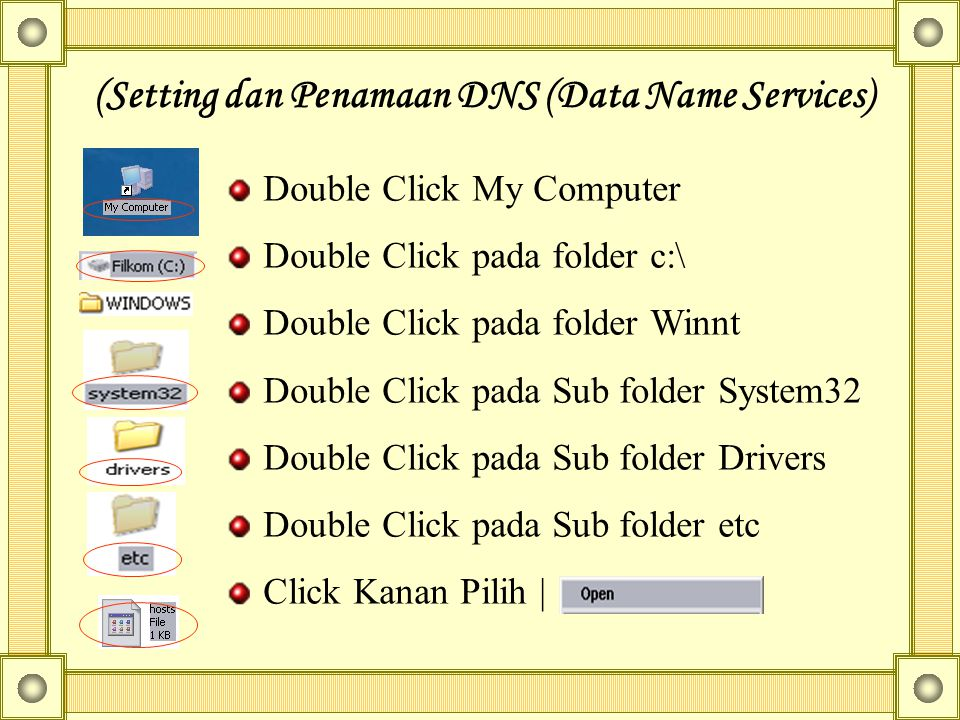 (Setting dan Penamaan DNS (Data Name Services)