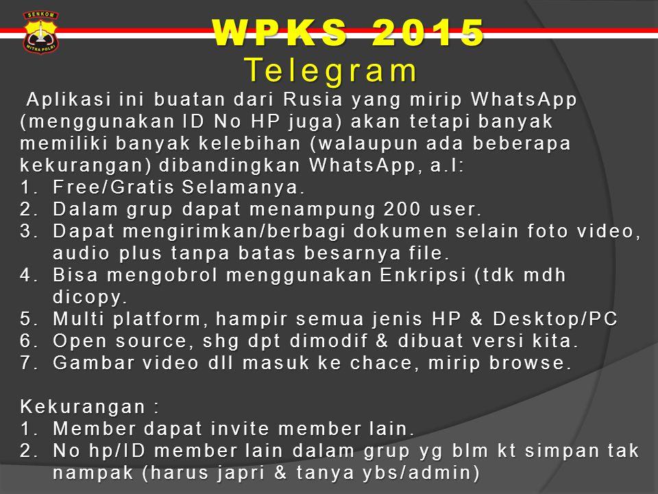 WPKS 2015 Telegram.