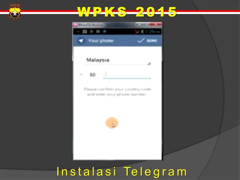 WPKS 2015 Instalasi Telegram