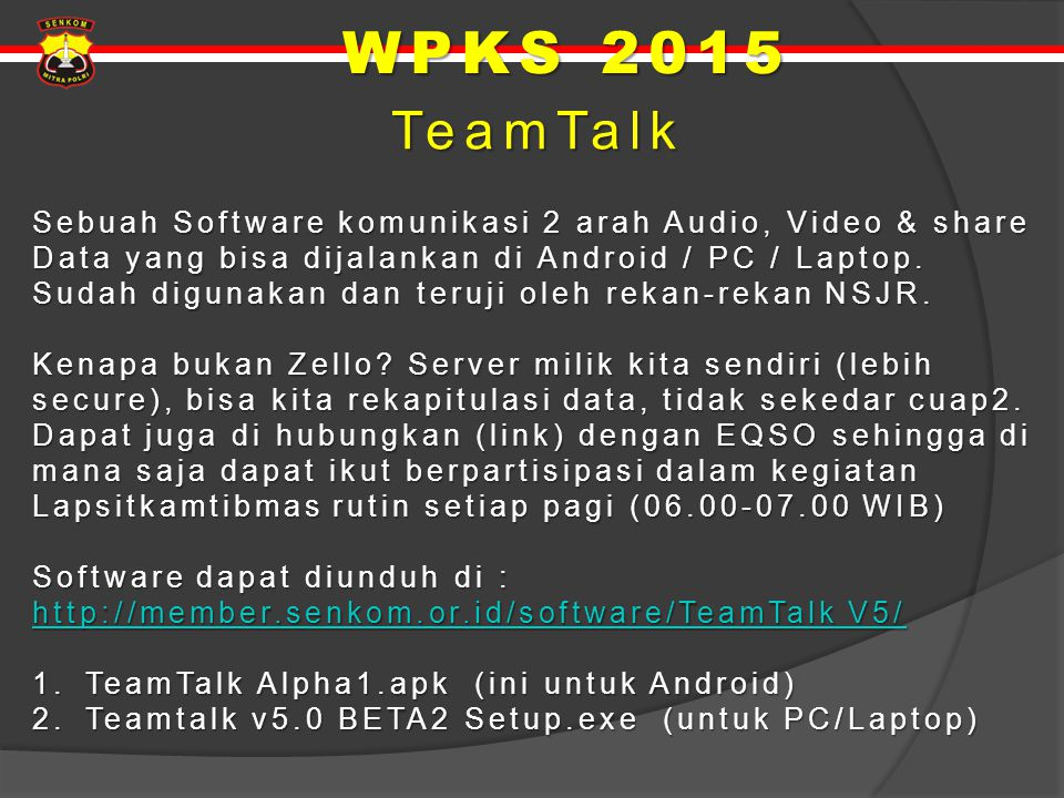 WPKS 2015 TeamTalk.
