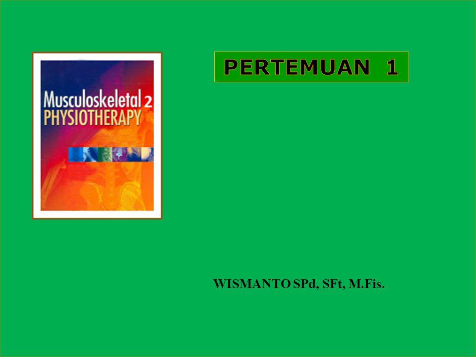 PERTEMUAN 1 WISMANTO SPd, SFt, M.Fis.