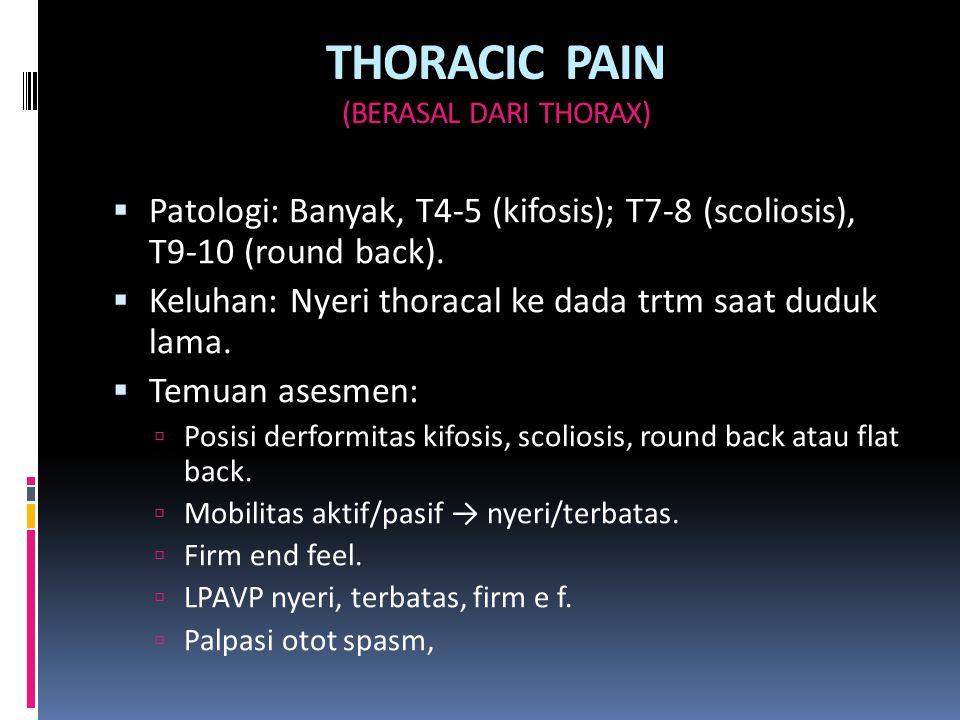 THORACIC PAIN (BERASAL DARI THORAX)