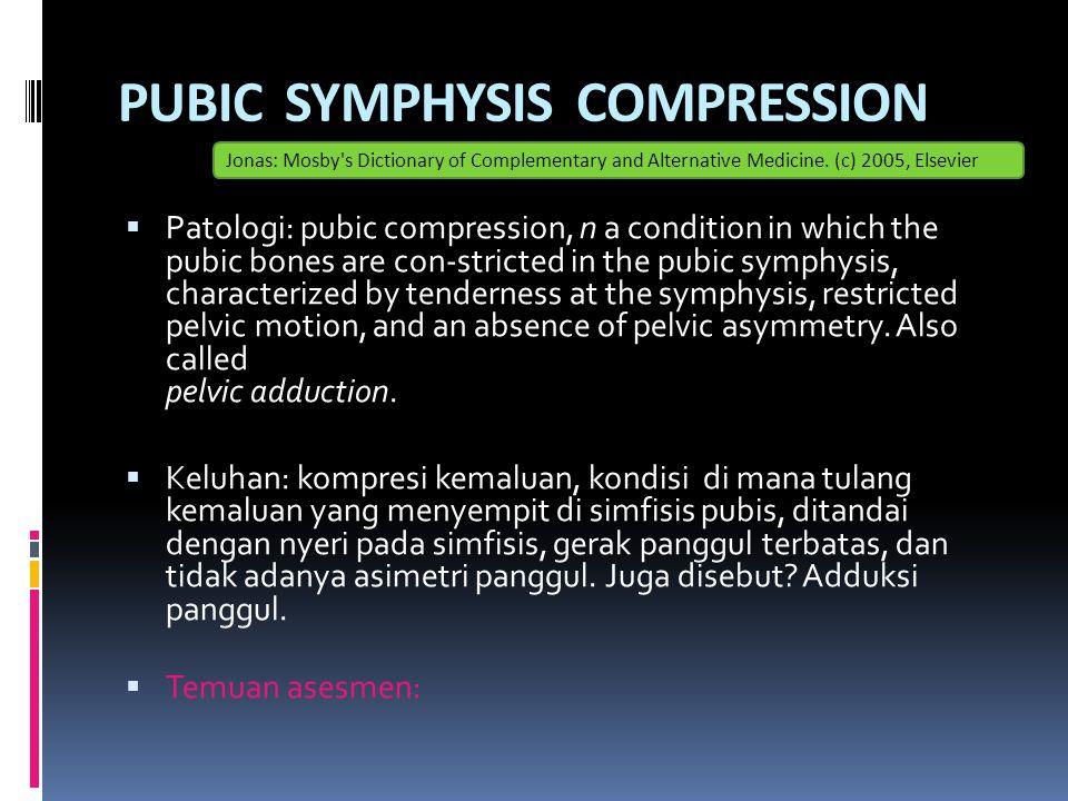 PUBIC SYMPHYSIS COMPRESSION