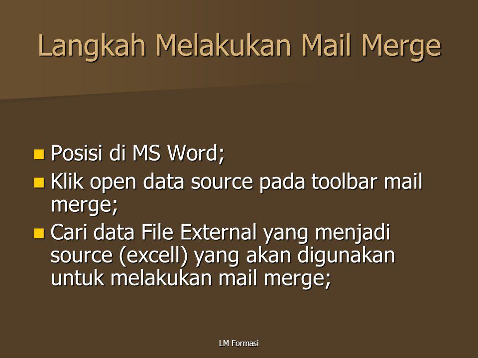 Langkah Melakukan Mail Merge
