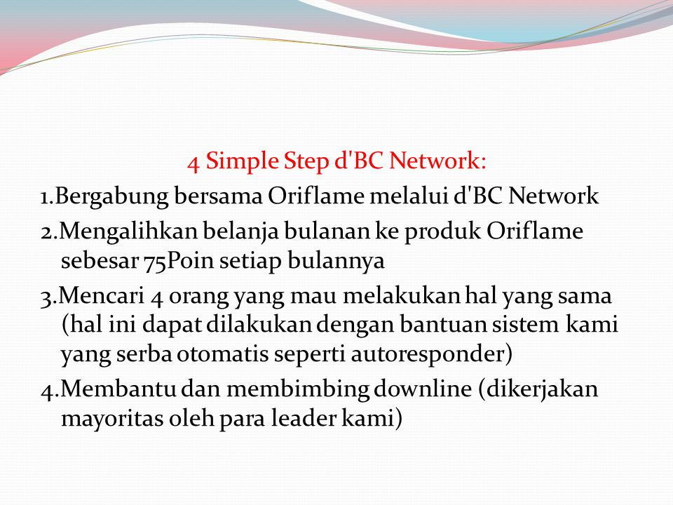 4 Simple Step d BC Network: 1