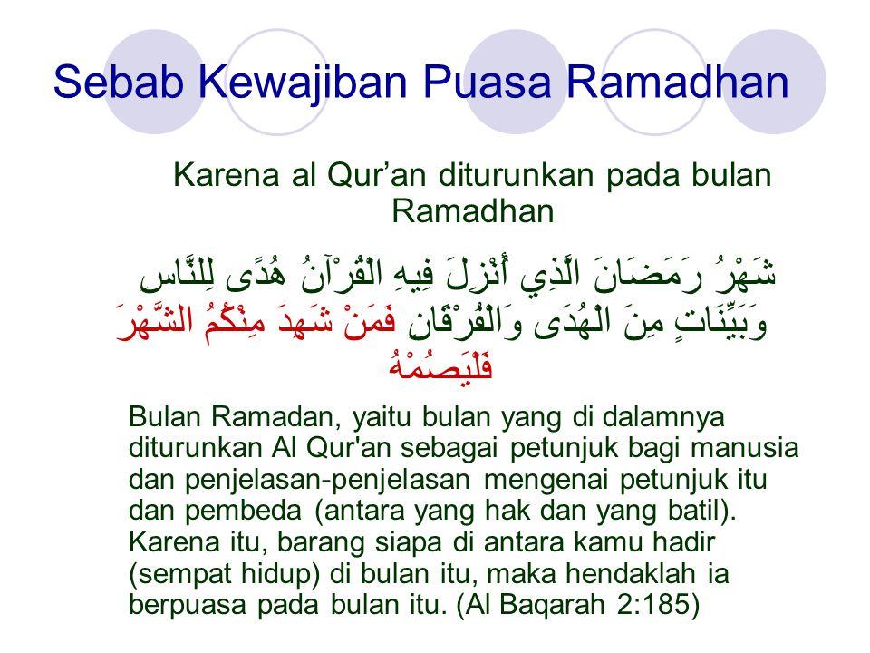 Sebab Kewajiban Puasa Ramadhan