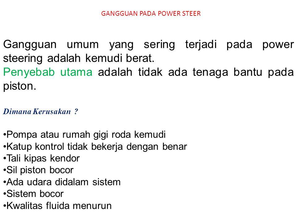 GANGGUAN PADA POWER STEER