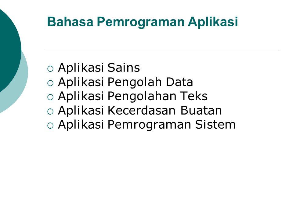 Bahasa Pemrograman Aplikasi
