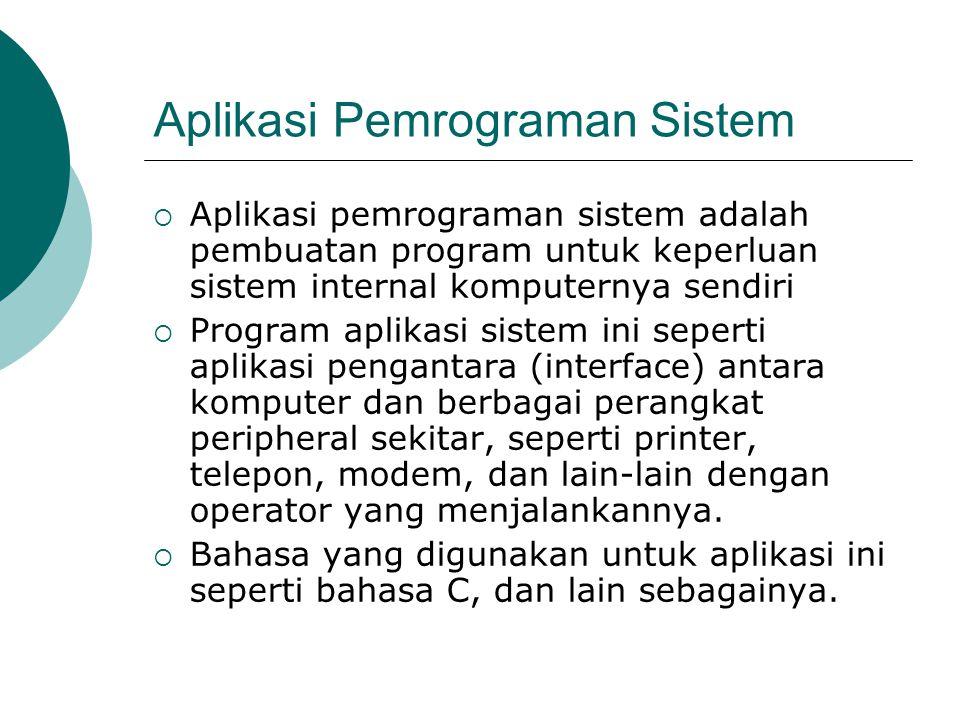 Aplikasi Pemrograman Sistem