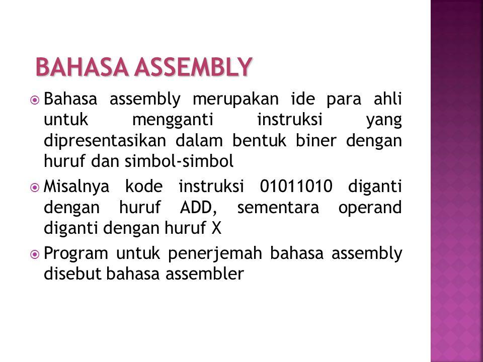 BAHASA ASSEMBLY