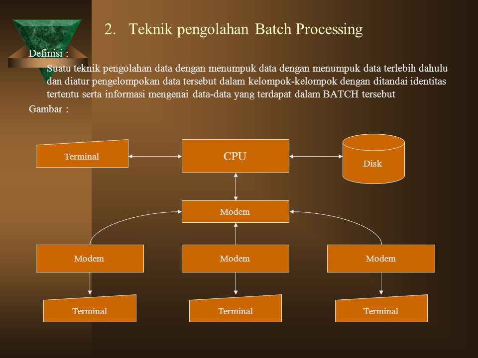 2. Teknik pengolahan Batch Processing