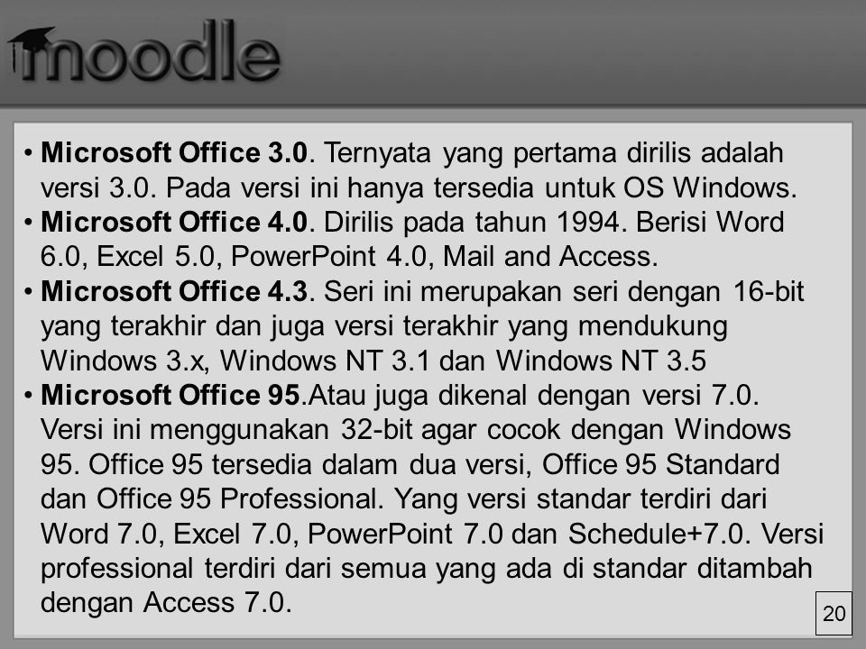 Microsoft Office 3. Ternyata yang pertama dirilis adalah versi 3