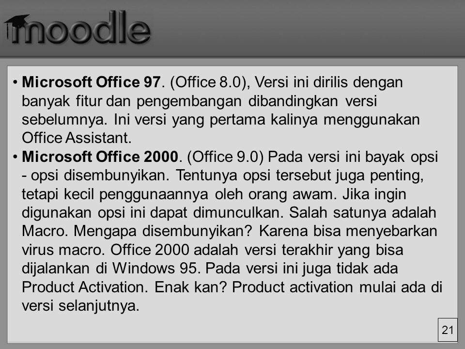 Microsoft Office 97. (Office 8