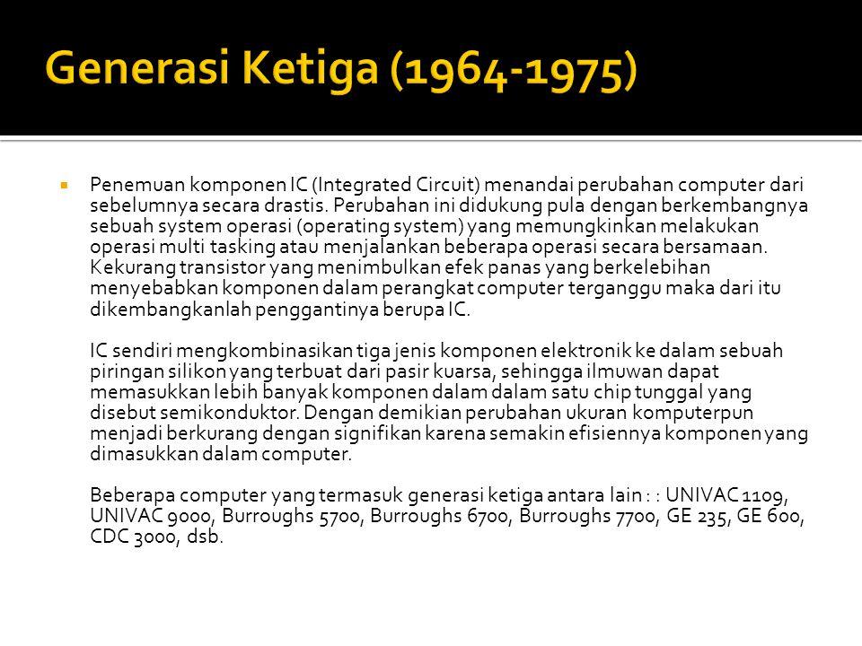 Generasi Ketiga (1964-1975)