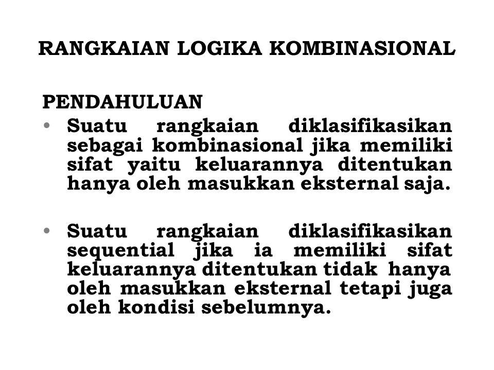 RANGKAIAN LOGIKA KOMBINASIONAL